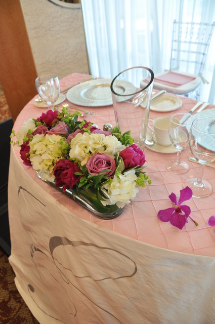 Flowers for sweetheart table